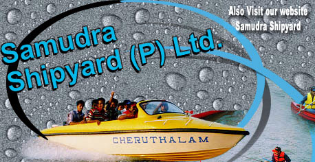 Samudra Engineering Company Kerala, India - manufacturers of fibre glass boats, frp, speed boats, and canoes for water sports, fishing, tourists, ambulance etc. Also making dive equipment, para sails and insulated containers.